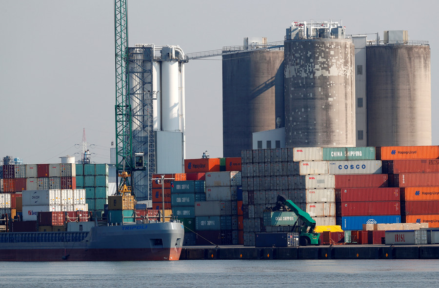 Toxic cloud over Antwerp port prompts evacuation as firefighters tackle chemicals on fire