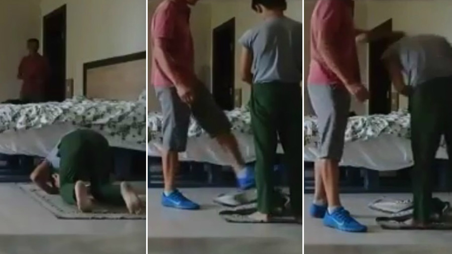 Football coach may lose job for pushing young athletes during Namaz prayer (VIDEO)