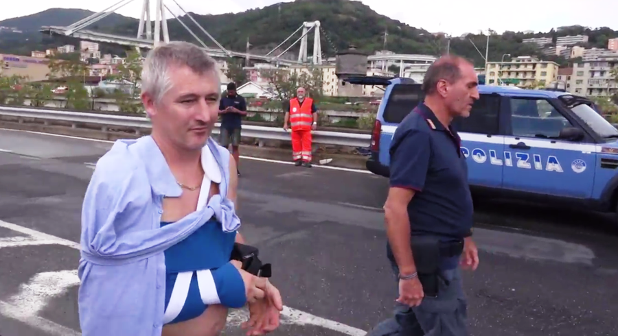 'It was a miracle': Survivor of Genoa bridge collapse shares his story (VIDEO)