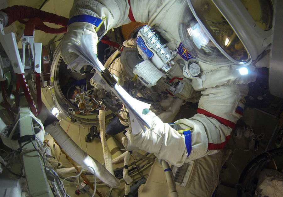 Cosmonauts accidentally break RT 360 GoPro camera during eight-hour spacewalk