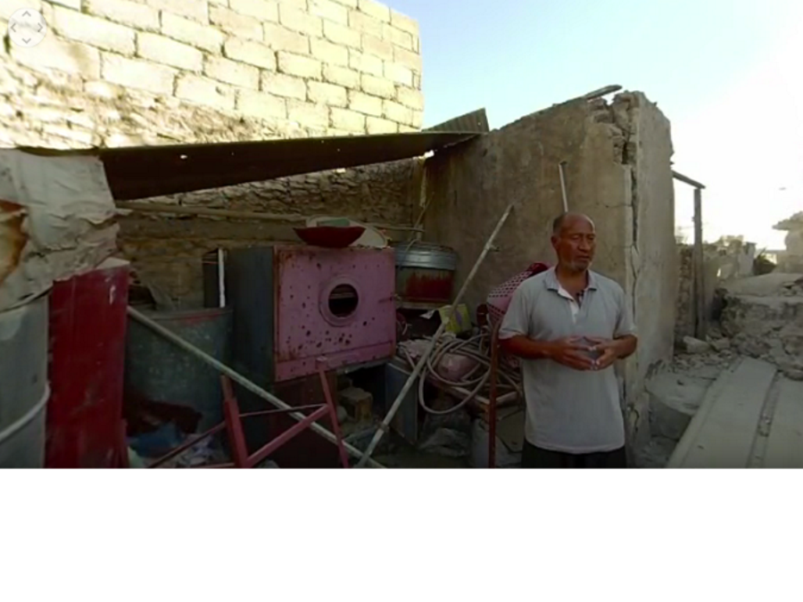 In a haunting 360 VIDEO, a father relives his daughter's death amid ruins of ghost city Mosul