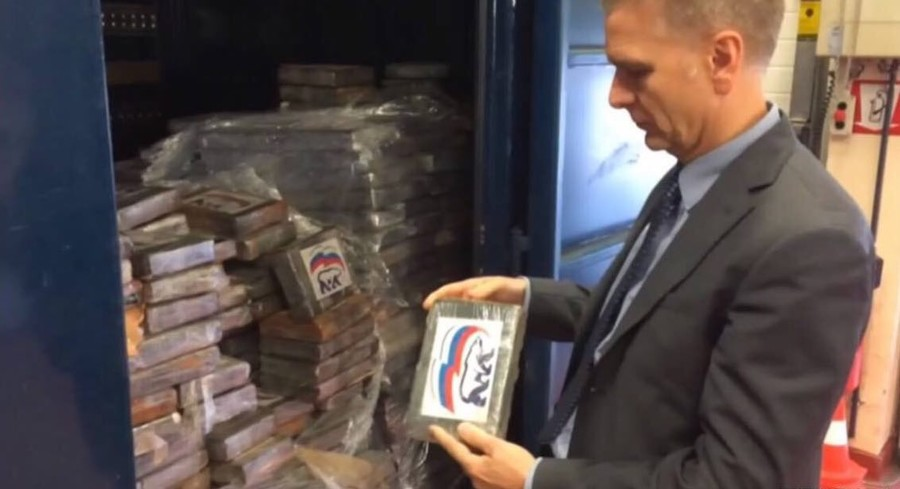 'Now, this is fame!': 2 tons of cocaine branded with Russia's ruling party logo seized in Belgium