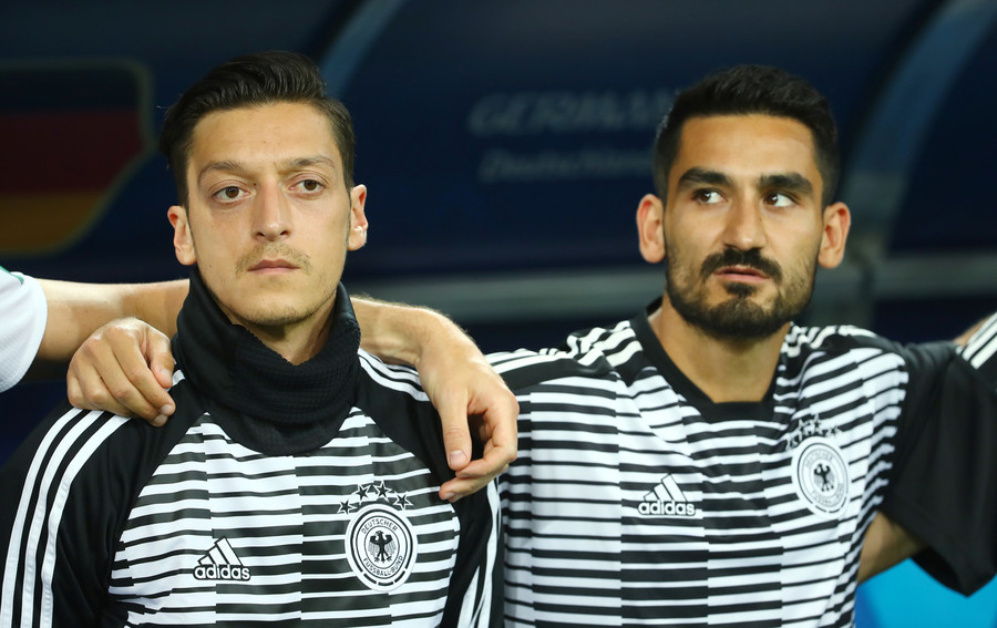 '25 Germans and 2 goat f***ers': Ilkay Gundogan shows support for Ozil