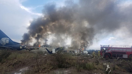 'Jesus Christ! Open the door!' Terrifying VIDEO from Mexico plane crash emerges online
