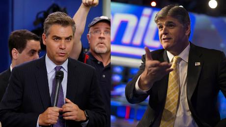 CNN's Jim Acosta and Fox News' Sean Hannity © Jonathan Ernst, Mike Segar