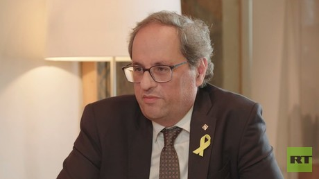 Alex Salmond's exclusive interview with Catalonia's new President