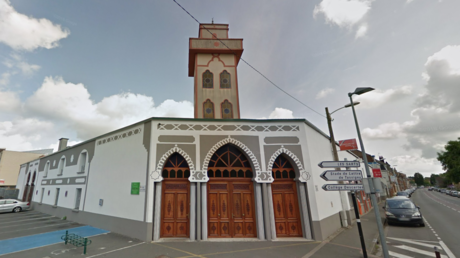 French police search for man who rammed car into mosque