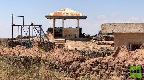 RT films abandoned UN checkpoints at Golan Heights after terrorists kicked out