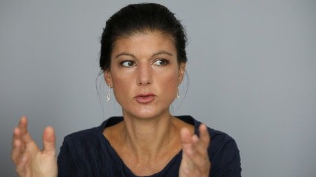 Sahra Wagenknecht, the leader of Germany's Stand Up movement © Reinhard Krause