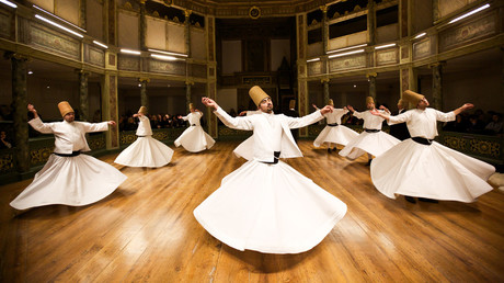 Whirling dervishes  at the Galata Mevlevihane, Istanbul, 2013 © Gurcan Ozturk