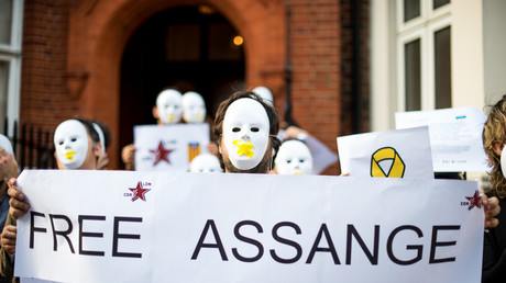 Protest in support of Assange in London, UK - 31 Jul 2018 © Brais G. Rouco/Global Look Press