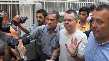 US pastor Andrew Brunson is pictured on July 25, 2018. © Reuters