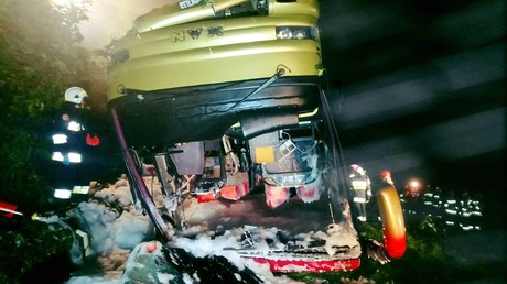 3 dead, dozens injured, including children, as bus overturns in southeastern Poland (PHOTOS)