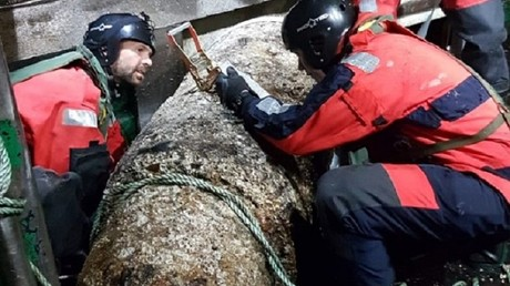 Big fish: French trawler nets 1-ton WWII bomb that can explode with one wrong move