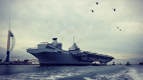 Big boat in big trouble? UK beats 'Russia threat' drums as its new aircraft carrier heads for trials