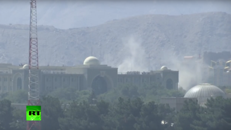 Massive missile attack launched at Presidential Palace in Kabul