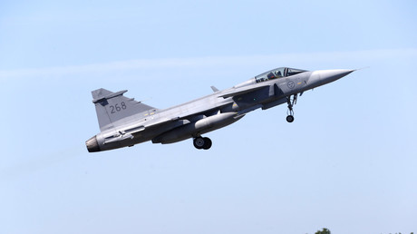 Swedish fighter jet crashes after collision with birds