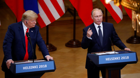 US President Donald Trump and Russian President Vladimir Putin in Helsinki, Finland, July 16, 2018. © Leonhard Foeger
