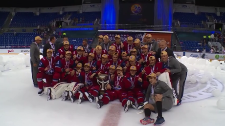 Russian team clinches victory at ice hockey Junior Club World Cup 2018 in Sochi (VIDEO)