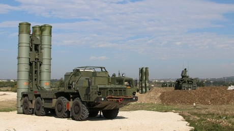 Russian S-400 air defence missile systems deployed at the Hmeimim airbase in Syria © Russian Defence Ministry