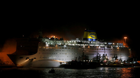 Fire breaks out on ferry with 1,000+ passengers, prompting massive evacuation (VIDEO)