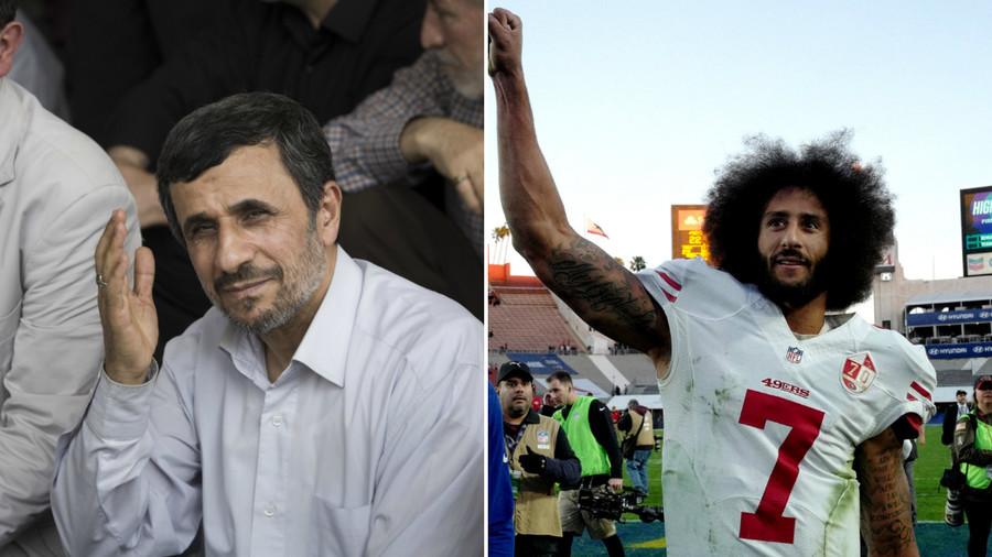 Ex-Iran President Ahmadinejad backs NFL outcast Kaepernick