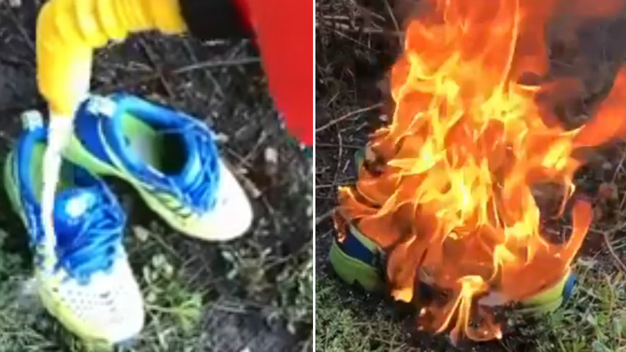 #JustBurnIt: Furious Nike customers destroy sports gear over Kaepernick ad (VIDEOS)