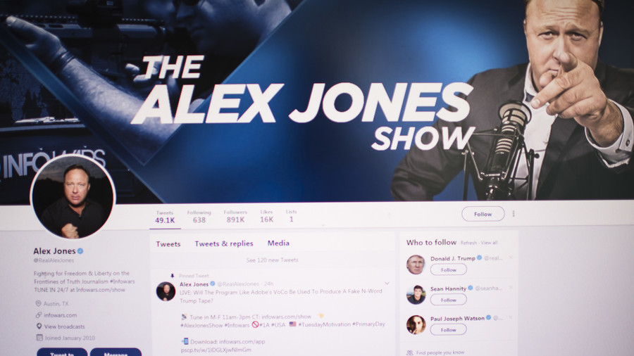 Alex Jones permanently suspended from Twitter after latest violations