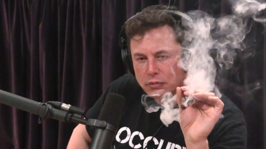 Elon Musk smokes marijuana with Joe Rogan during live interview