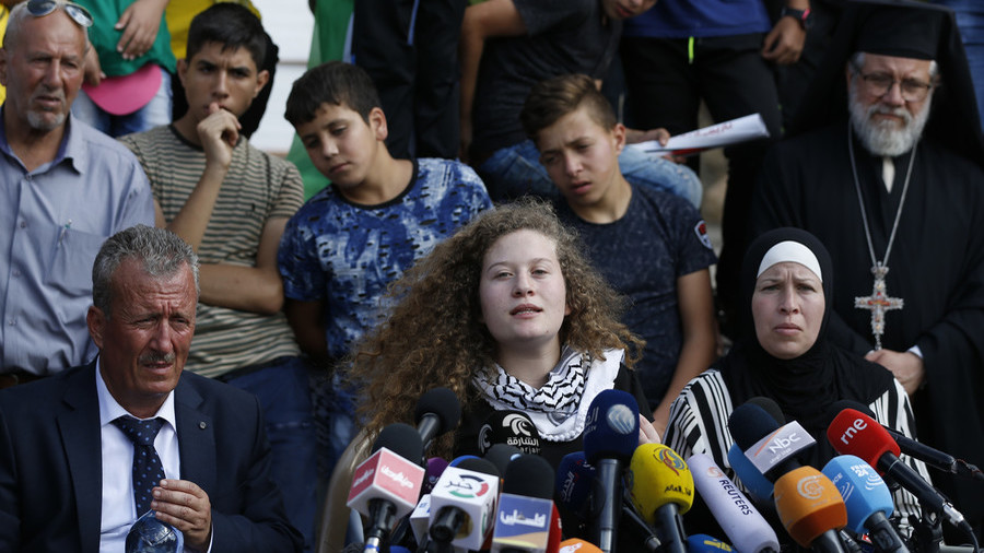 Palestinian teen activist Ahed Tamimi banned from traveling abroad, her father claims