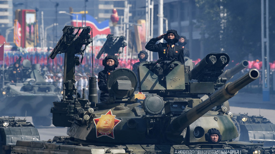 Peace overture? No ballistic missiles seen in North Korea's 70th anniversary parade (PHOTOS)