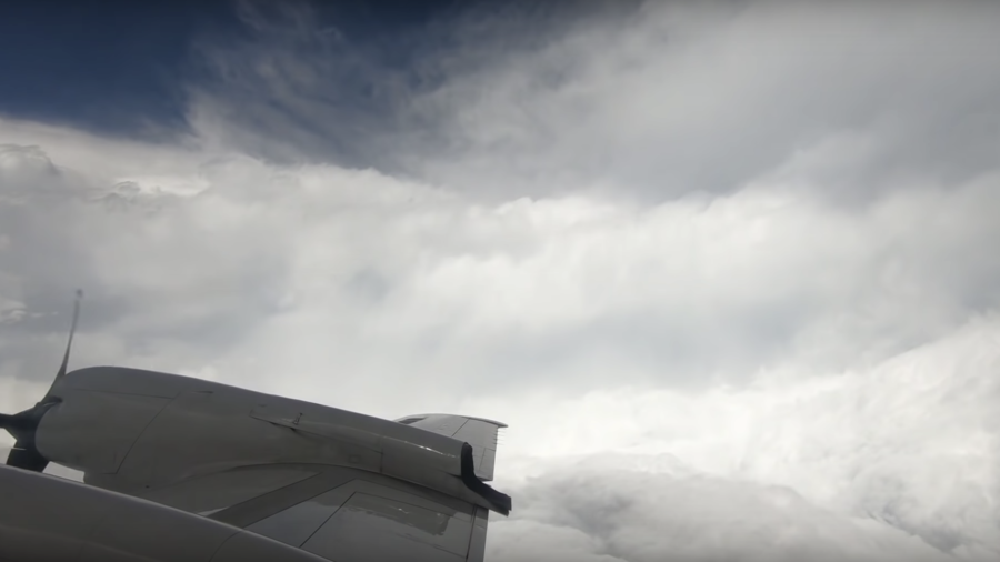 Time-lapse footage captured hurricane-hunting plane fly through Florence (VIDEO)