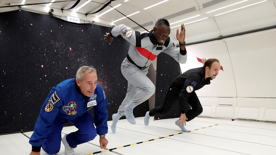 Space race: Usain Bolt wins sprint on zero-gravity flight (PHOTOS, VIDEO)