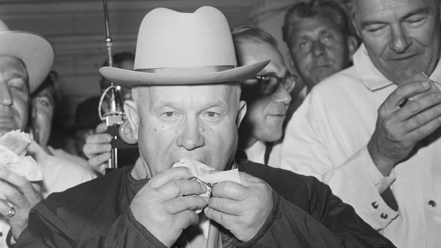 Khrushchev tours America: 'No sour cabbage soup for these people'