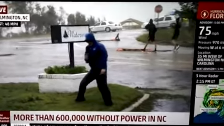 Weather Channel reporter mocked for 'overly dramatic' Hurricane Florence coverage