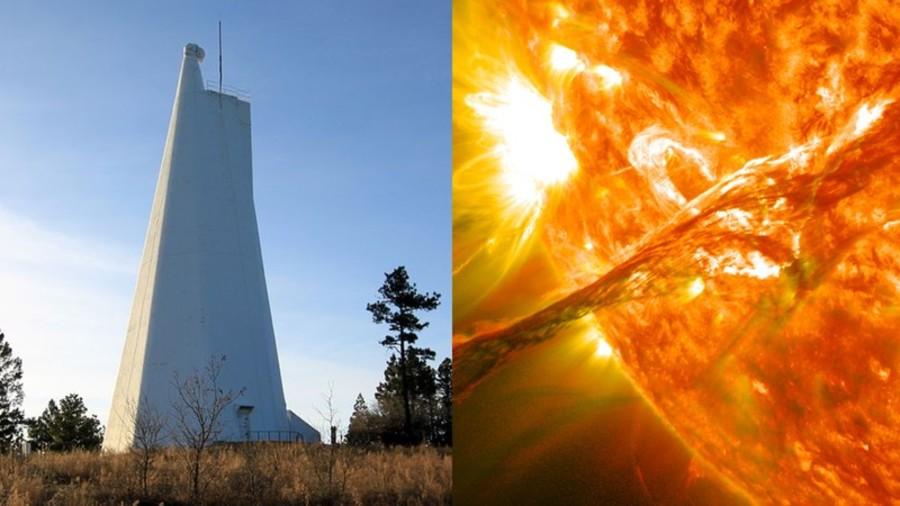aliens or solar flare questions remain as sunspot observatory
