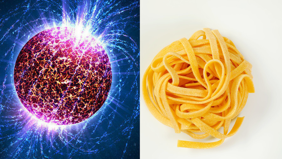 'Nuclear pasta' could be strongest material in the universe – study