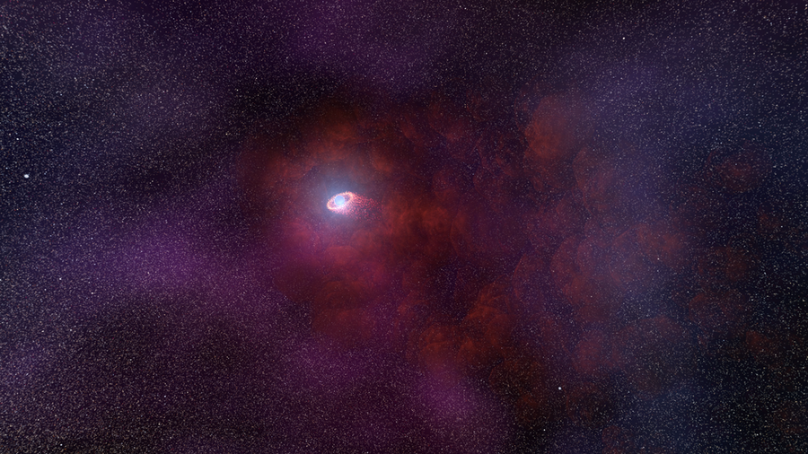 Hubble detects never-before-seen features around neutron star