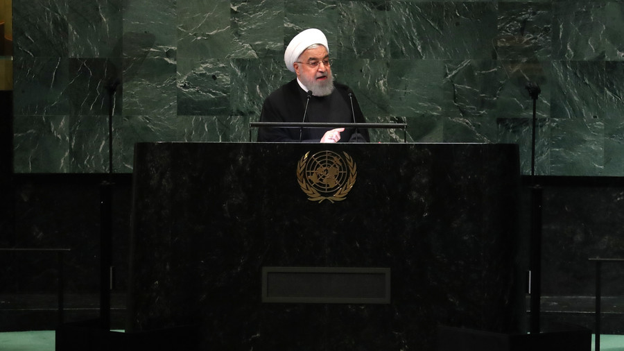 Rouhani slams US for 'authoritarian' foreign policy, calls on Trump to return to talks