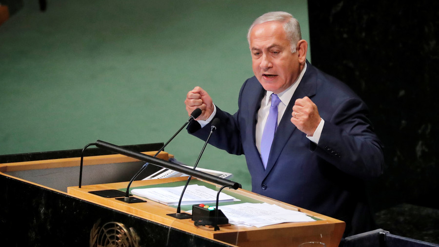 Bolstered by 'unwavering' US support, Netanyahu thunders from UNGA dais