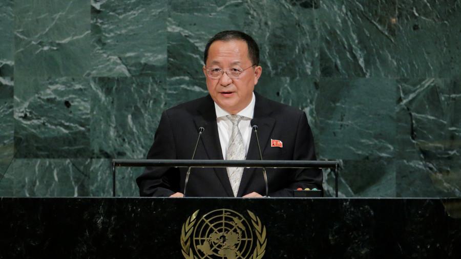 North Korean foreign minister speaks at UNGA