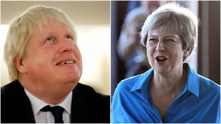 Theresa May watches on as Boris Johnson dismissed as 'irrelevant and offensive'