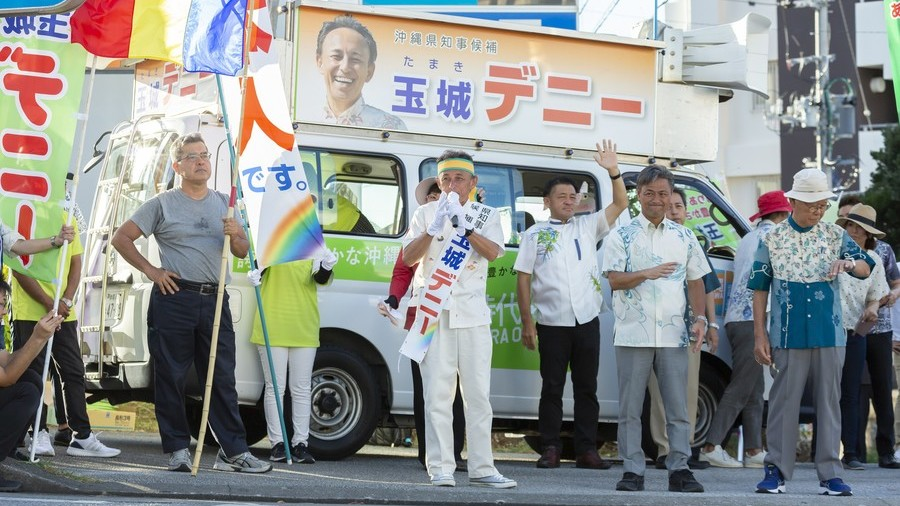 Candidate pledging to resist new US base wins Okinawa election