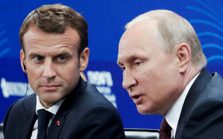 Macron claims Putin's dream is to dismantle EU, Kremlin says it wants cooperation