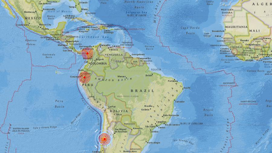 Series of strong quakes shake Panama, Ecuador & Chile (VIDEOS)