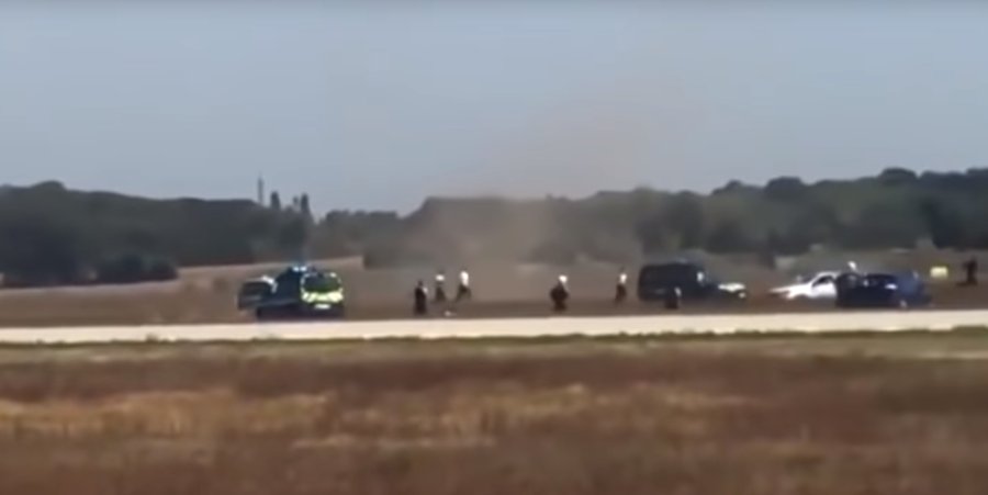 Security breach at Lyon Airport, a car chase on runway, flights grounded (VIDEO)
