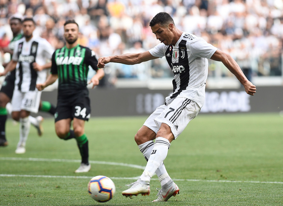 Cristiano Ronaldo Scores First Goal For Juventus