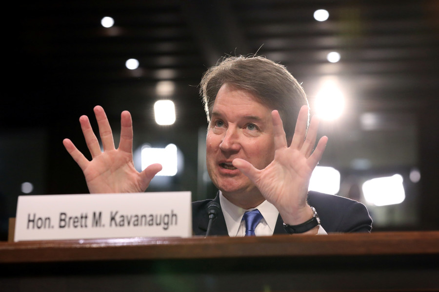 Brett Kavanaugh during the confirmation hearings.  Reuters