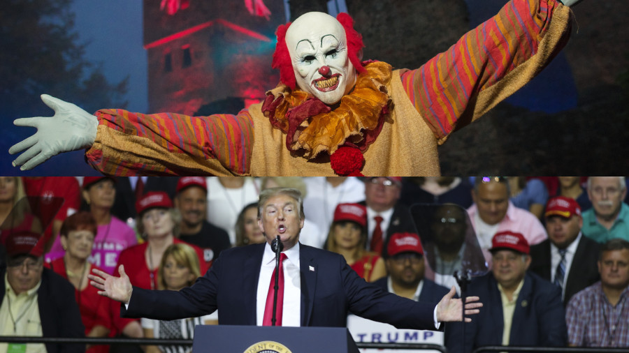 Clown wars: Trump trades Pennywise barbs with California Democrat