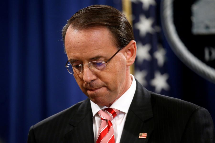Rosenstein not fired today, will meet Trump again on Thursday
